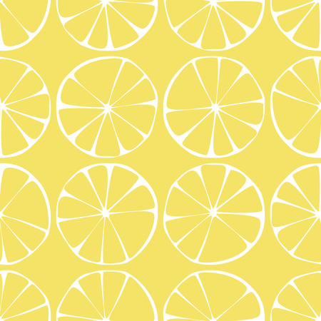 seamless pattern ,lemon background with yellow and white elements, geometric design, vector illustration Vector