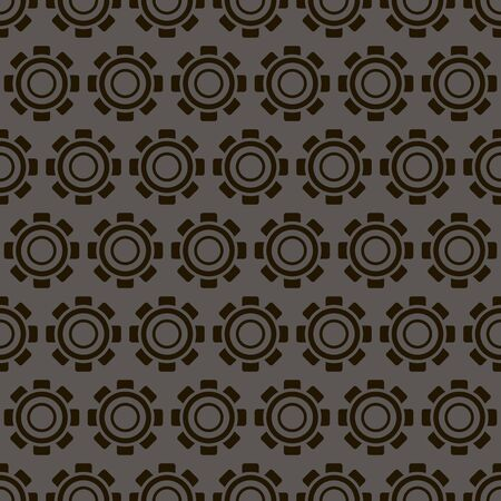 background, seamless pattern with black cogwheel, geometric design, vector illustration Illustration