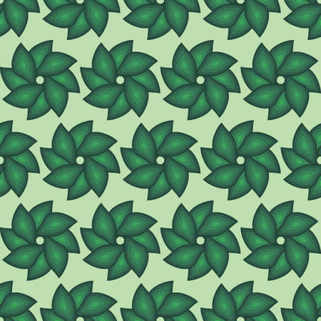 background, seamless pattern with green elements, geometric design, mint backdrop, vector illustration