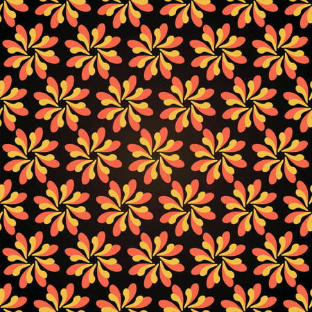 background, seamless pattern with yellow and red elements, geometric design, vector illustration