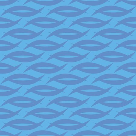 background, seamless pattern with blue elements, geometric design, vector illustration