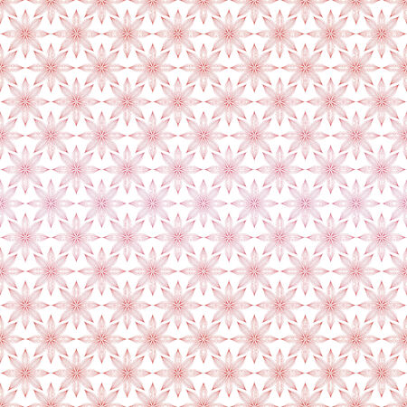 vector background with flowers, seamless pattern with red and pink elements, floral geometric design, vector illustration Illustration