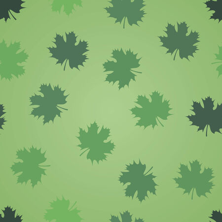 vector background, abstract seamless pattern with green backdrop and leafs, geometric design, vector illustration