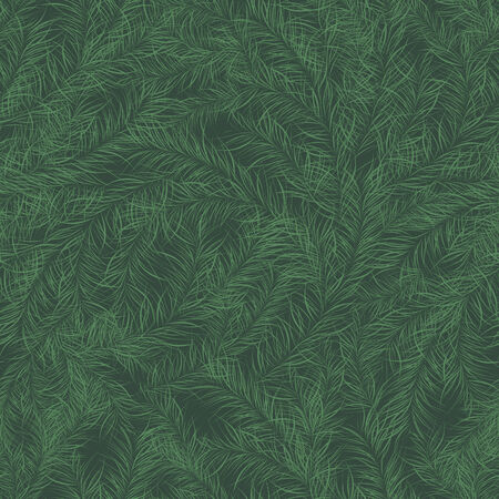 vector background, abstract seamless pattern with green backdrop and branches , geometric design, vector illustration