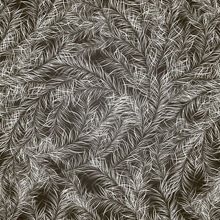 vector background, abstract seamless pattern with black backdrop and white branches , geometric design, vector illustration