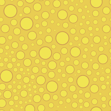 vector background, abstract seamless pattern with yellow backdrop and circular elements, geometric design, vector illustration