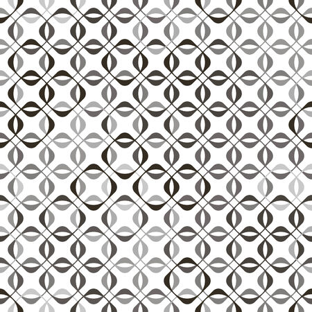 vector background, abstract seamless pattern with white backdrop and black, gray elements, geometric design, vector illustration