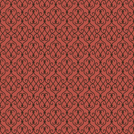 abstract seamless pattern with black and red elements Vettoriali
