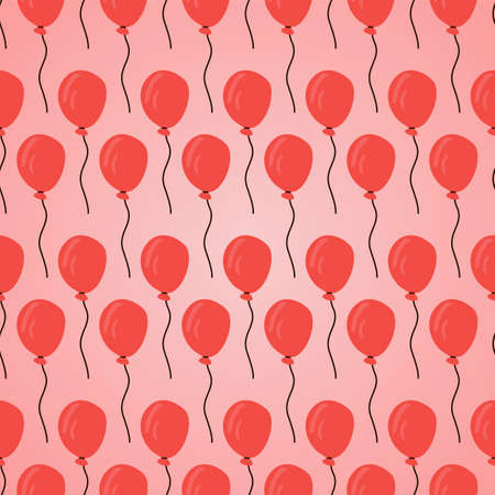 red balloons: seamless pattern with red balloons