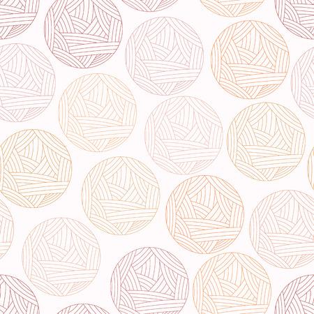 Illustrazione vettoriale di sfondo con la palla di lana, senza motivo. Intrattenervi clew rosso, filati di lana. Illustrazione vettoriale Archivio Fotografico - 27280745
