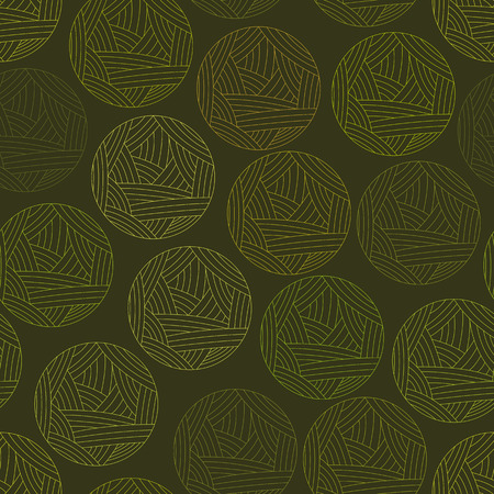 clew: Vector illustration of wool ball. Green clew, wool yarn. Vector illustration