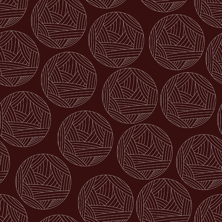 clew: vector background,  seamless pattern with wool ball, seamless pattern. Isoleted red clew, wool yarn. Vector illustration