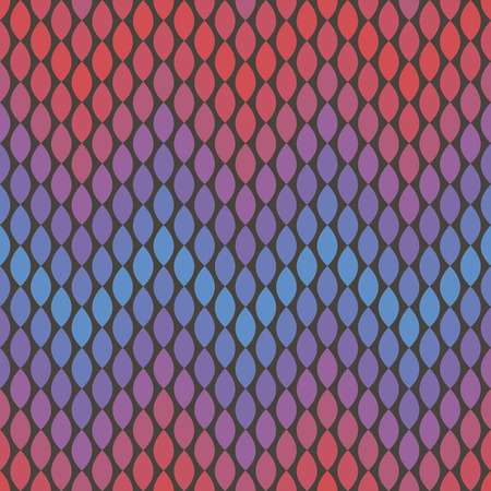 violet red: vector background, abstract seamless pattern with dark backdrop and violet, blue and red elements, geometric design, vector illustration