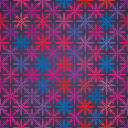 violet red: vector background,  seamless pattern with  blue, violet; black; red elements, geometric design, vector illustration