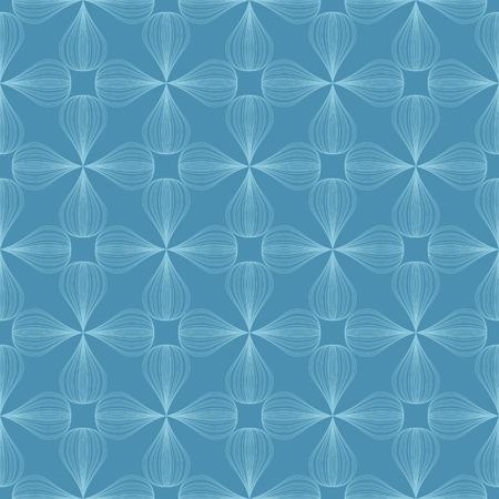 vector background,  seamless pattern with blue elements, geometric design, vector illustration Иллюстрация