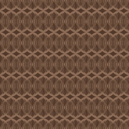 vector background,  seamless pattern with  brawn elements, geometric design, vector illustration Illustration