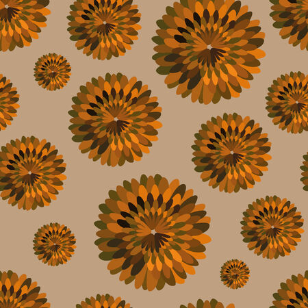 groene bloemen: vector background,  seamless pattern with yellow and green flowers, geometric design, vector illustration