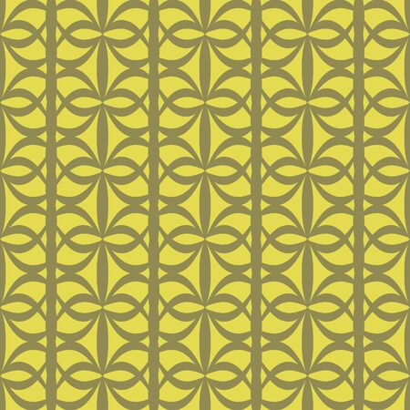 vector background,  seamless pattern with  green and yellow elements, geometric design, vector illustration Illustration