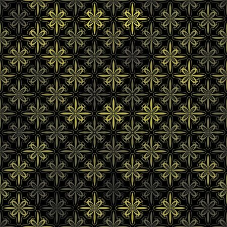 vector background,  seamless pattern with yellow and black elements, geometric design, vector illustration