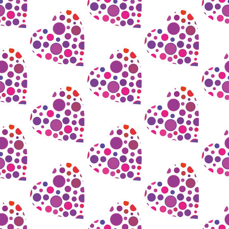 vector background with hearts elements, geometric design, vector illustration