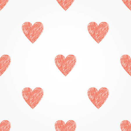 vector background withred hearts, geometric design, vector illustration Illustration