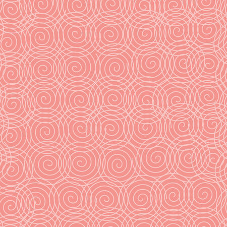 vector background, seamless pattern with pink spiral elements, geometric design, vector illustration Vectores