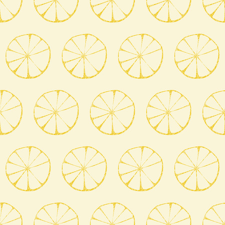 Vector lemon pattern, seamless background  Çizim