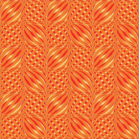 vector background, seamless pattern with yellow, red and orange elements, geometric design, vector illustration