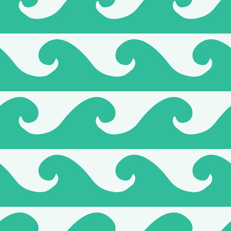 vector background, seamless pattern with white and turquoise wave elements, geometric design, vector illustration