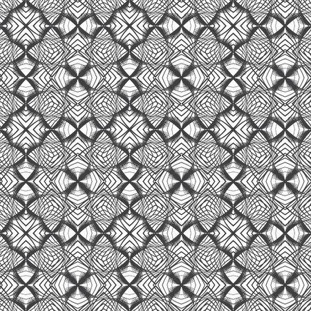 seamless pattern with black elements, geometric design