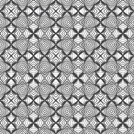 seamless pattern with black elements, geometric design