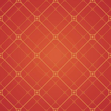 seamless pattern with red elements, geometric design Ilustração