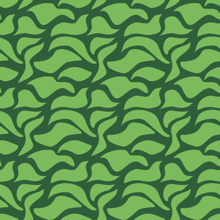 seamless pattern with green strip elements, geometric design Ilustração