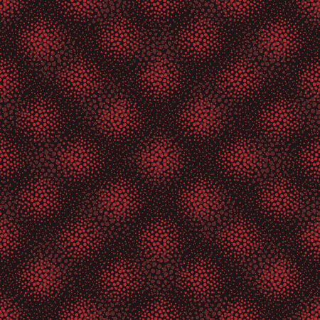red point: vector background, unusual seamless pattern with  black and red point elements, geometric design, vector illustration Illustration
