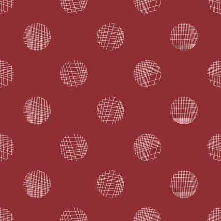 vector background, seamless pattern with red and white circle elements, geometric design, vector illustration