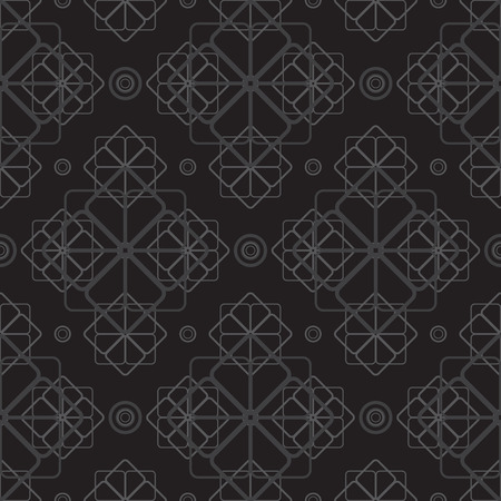 vector background, seamless pattern with black elements, geometric design, vector illustration Vectores