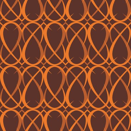 vector background, seamless pattern with orange; brown elements, geometric design, vector illustration