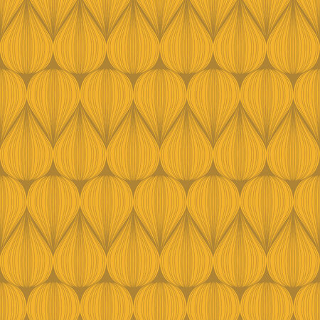 vector background, unusual seamless pattern with yellow elements, geometric design, vector illustration Vectores