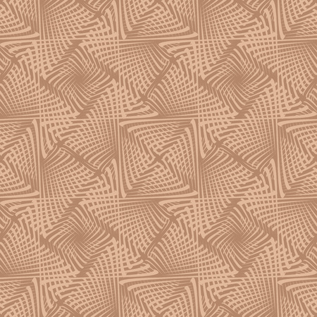vector background, unusual seamless pattern with brown elements, geometric design, vector illustration