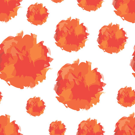 vector background, unusual seamless pattern with  red and orange elements, geometric design, vector illustration
