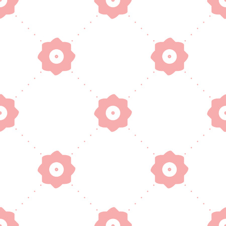 vector background, unusual seamless pattern with pink elements, geometric design, vector illustration Illustration