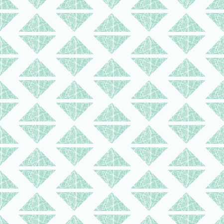 vector background, unusual seamless pattern with turquoise and white elements, geometric design, vector illustration