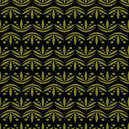 vector background, unusual seamless pattern with dark green elements, geometric design, vector illustration