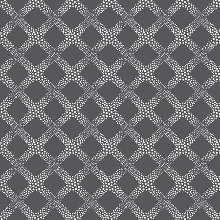 vector background, unusual seamless pattern with  black andwhite circle elements, geometric design, vector illustration Ilustracja