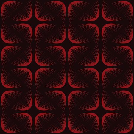 vector background, unusual seamless pattern with red elements, geometric design, vector illustration