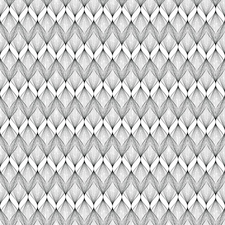 vector background, unusual seamless pattern with  black and white elements, geometric design, vector illustration