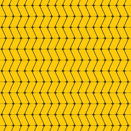 vector background, unusual seamless pattern with  yellow and bown elements, geometric design, vector illustration