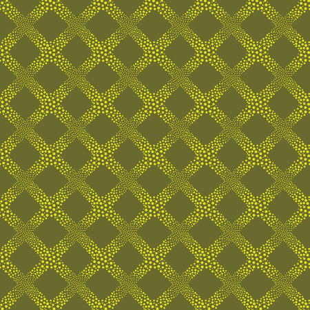 vector background, unusual seamless pattern with yellow and green elements, geometric design, vector illustration