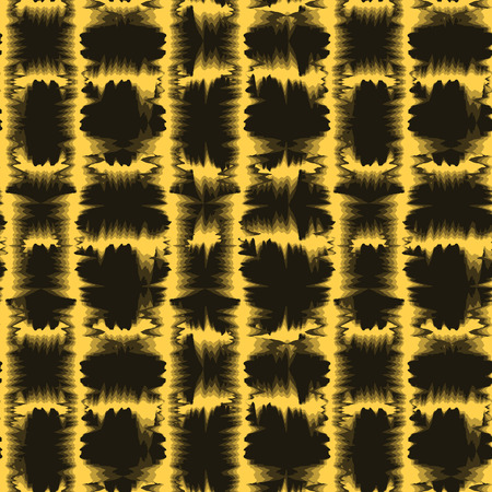 vector background, unusual seamless pattern with brown and yellow elements, geometric design, vector illustration