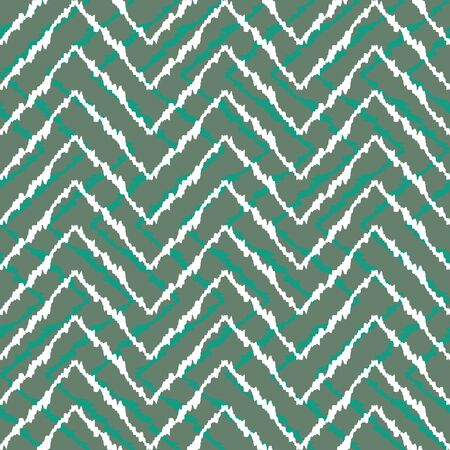 vector background, unusual seamless pattern with tuquoise and white elements, geometric design, vector illustration Vettoriali